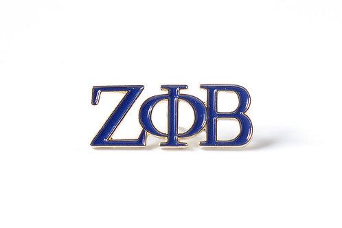 Zeta Phi Beta 3 Letter Color Pin