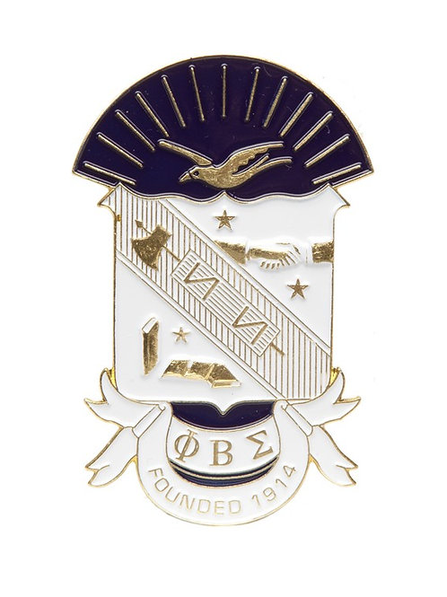 Phi Beta Sigma 3D Color Shield Pin
