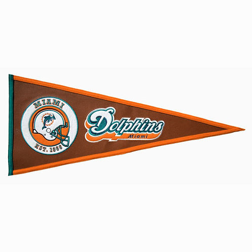 Miami Dolphins Pigskin Traditions Pennant (13x32)