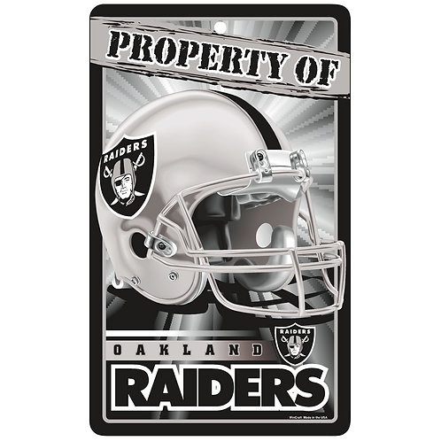 Oakland Raiders Property Of Signs (7.25x12)