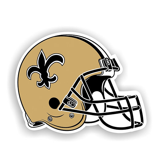 "New Orleans Saints 12"" vinyl helmet magnet"