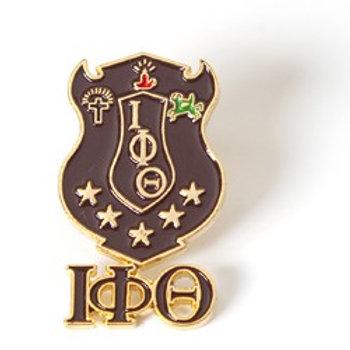 Iota Phi Theta 3D Color Shield Pin w/letters