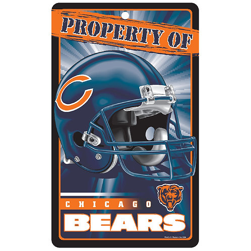 Chicago Bears Property Of Signs (7.25x12)