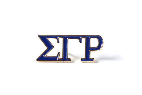 Sigma Gamma Rho 3 Letter Color Pin