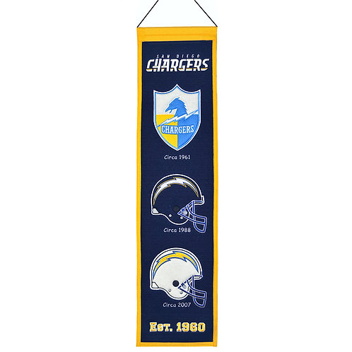 San Deigo Chargers Heritage Banner (8x32)