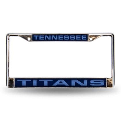Titans Laser Cut Chrome License Plate Frame