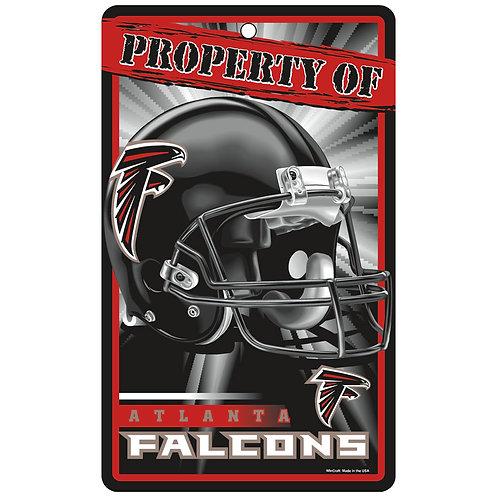 Atlanta Falcons Property Of Signs (7.25x12)