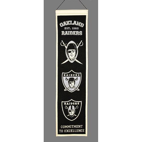 Oakland Raiders Heritage Banner (8x32)