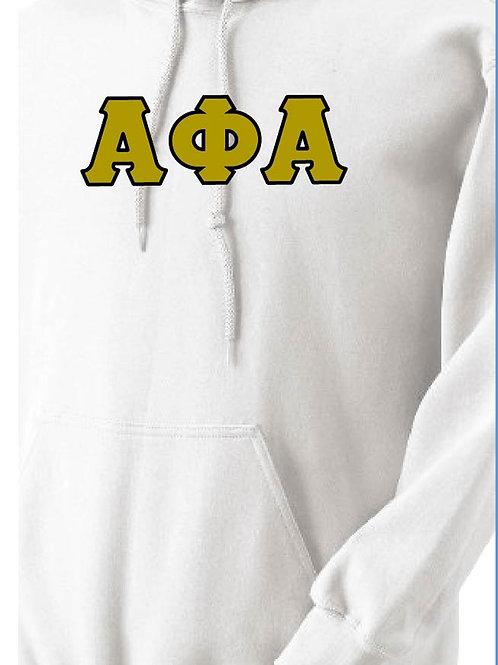 Alpha Phi Alpha White Fleece Hoody