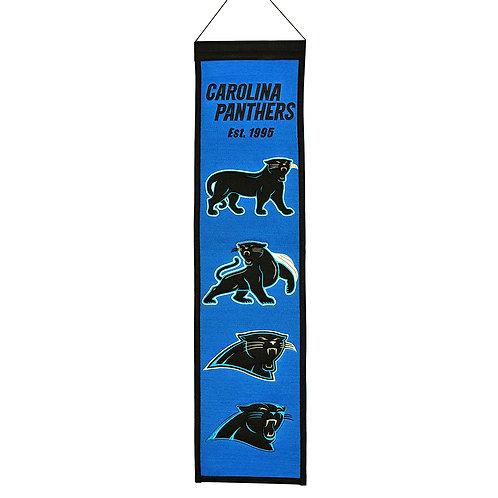 Carolina Panthers Heritage Banner (8x32)