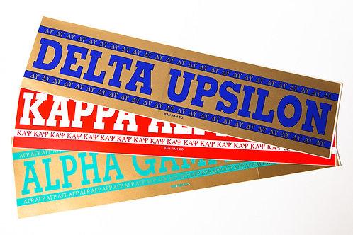 Omega Psi Phi Bumper Sticker