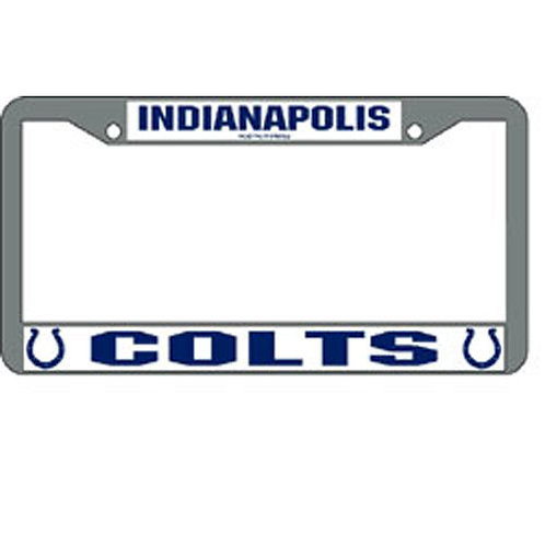 Indianapolis Colts Chrome License Plate Cover