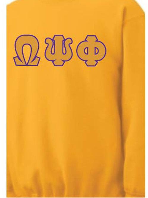 Gold Omega Fleece Crewneck Sweatshirt