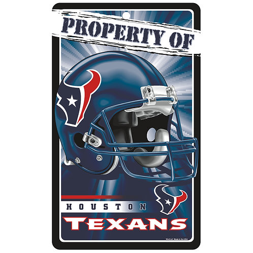 Houston Texans Property Of Signs (7.25x12)