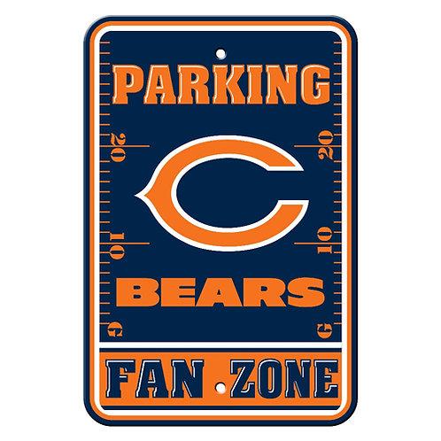 Chicago Bears NFL Plastic Parking Sign