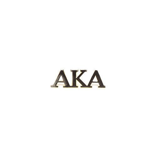Alpha Kappa Alpha 3 letter lapel pin in gold tone.