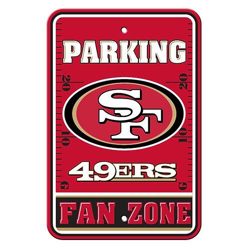San Francisco 49ers NFL Plastic Parking Sign