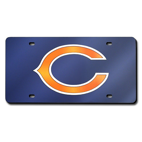 Chicago Bears Laser Cut Blue License Plate Tag