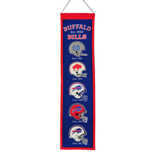 Buffalo Bills Heritage Banner (8x32):