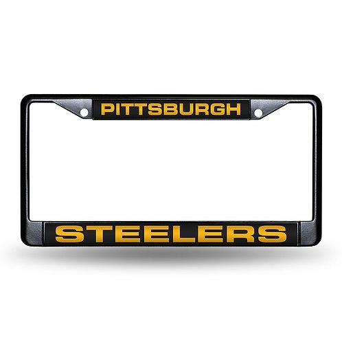 Steelers Black Chrome License Plate Frame