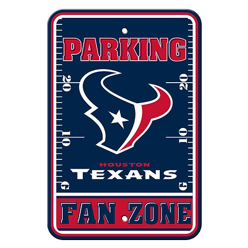 Houston Texans NFL Plastic Parking Sign
