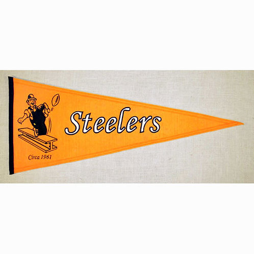 "Pittsburgh Steelers ""Throwback"" Pennant (13""x3"")"