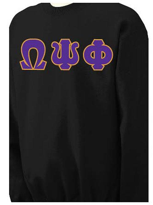 Black Omega Fleece Crewneck Sweatshirt