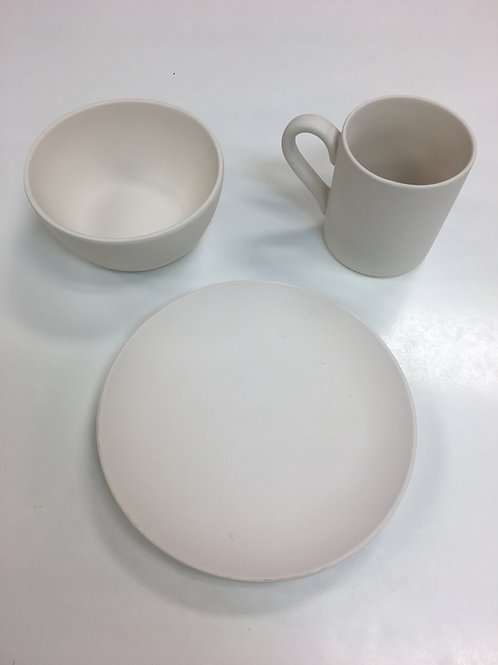 Plate, Bowl and Mug Combo