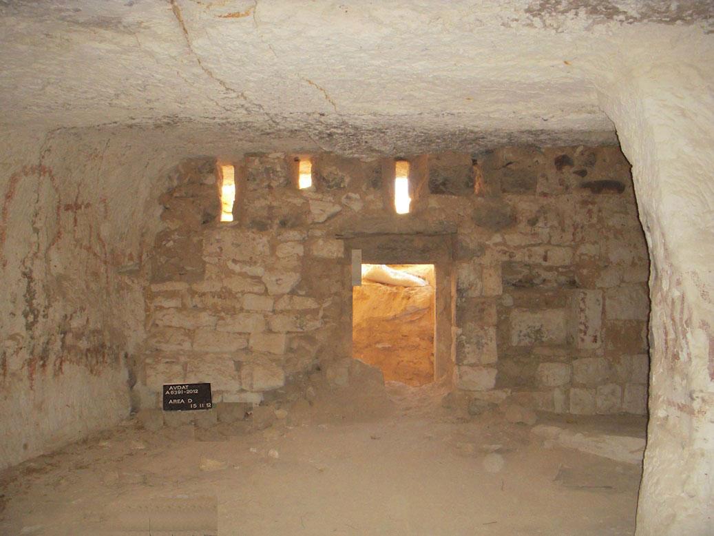 Inside Dipinti Cave, Avdat