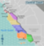 Central Coast of California service area map. Coast to Coast Medical Transportation