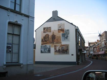 Muurschildering Nonnengas