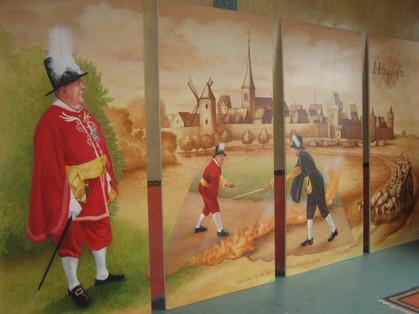 Muurschildering Café de Dijk