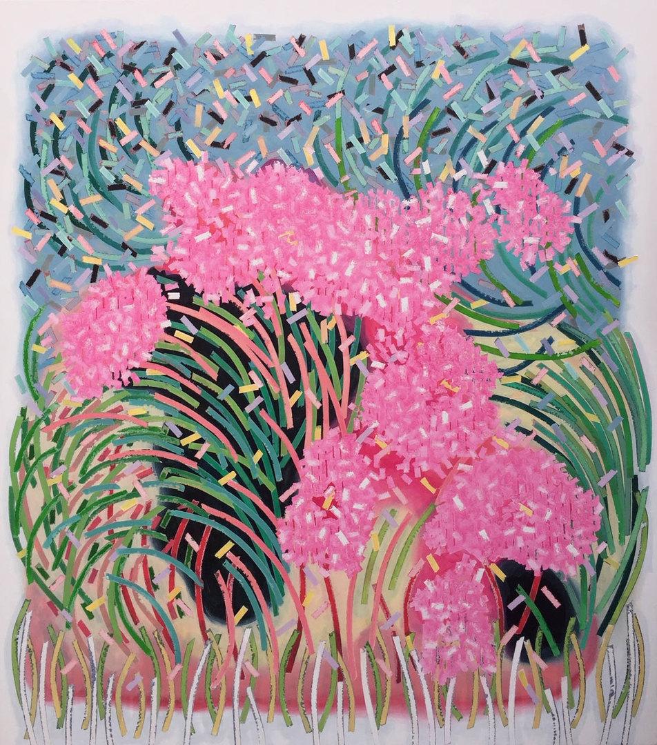 Tatiana Moya, Sin Título Pintura acrílica sobre tela 140 x 124 cms 2020 ©