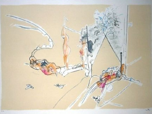 ROBERTO MATTA, La Promenade de Venus, 1976, Litografía, 54x76 cm.