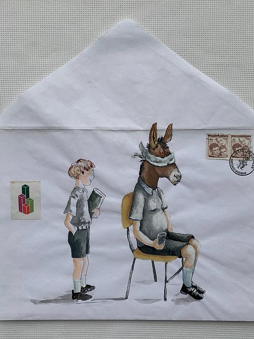 ANTONIO GUZMÁN, Gallinita ciega, 2010 tempera y sobre de papel, 37 x 33,8 cm.