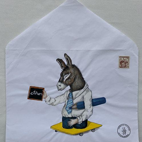 ANTONIO GUZMÁN, Ethos, 2010 tempera y sobre de papel, 37 x 33,8 cm.