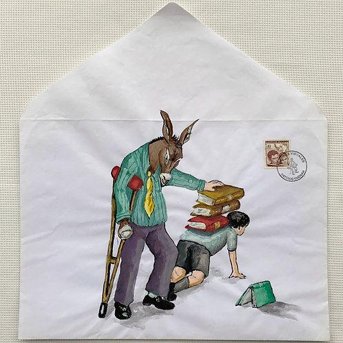 ANTONIO GUZMÁN, Ortopedia, 2010 tempera y sobre de papel, 37 x 33,8 cm.