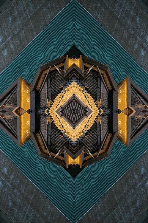 JETHRO MATHER JOO, Fractales Arquitectura, 2020, 75x50 cm.