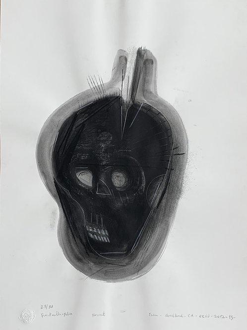 RICARDO FUENTEALBA-FABIO, Kermit, 2012 – 2013 serigrafía al agua, 76,4x56 cm.