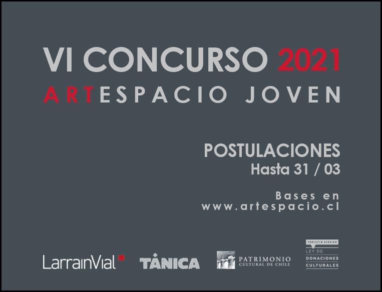VI concurso 2021 Arte Joven ARTESPACIO © 2021 Postulaciones abiertas