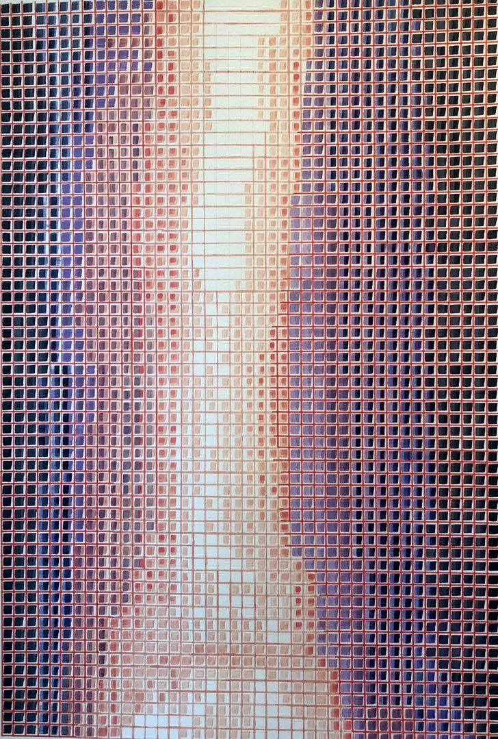Cecilia Zaldivar Cascada  100cm x 70cm  Acrílicos y marcadores sobre papel Año 2020 ©