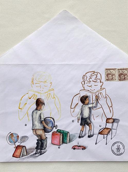 ANTONIO GUZMÁN, Globo Terráqueo, 2010 tempera y sobre de papel, 37 x 33,8 cm.