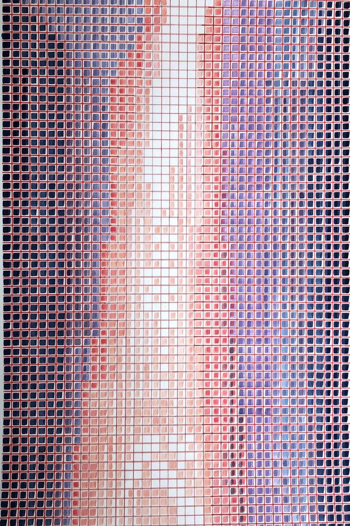 Cascada II 100cm x 70cm  Acrílico y marcadores sobre papel Año 2020 ©
