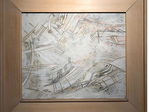 HUGO MARIN (1929-2018) S/t, 2000, Acrílico sobre lino, 39 x 47 cm.