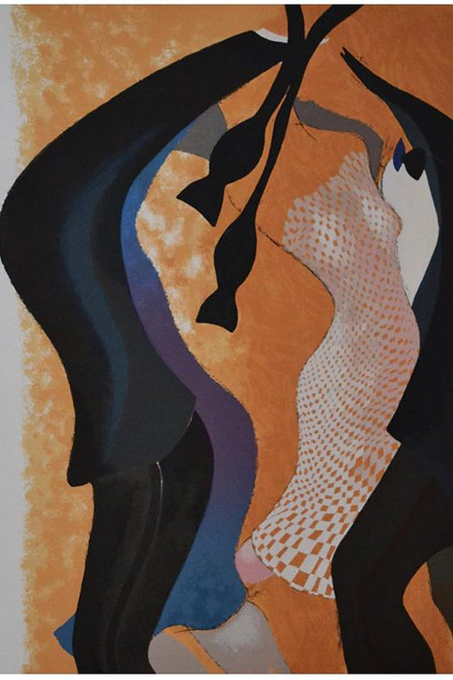 NEMESIO ANTÚNEZ, Fin de Fiesta, 1989, Litografía, 60x40 cm.