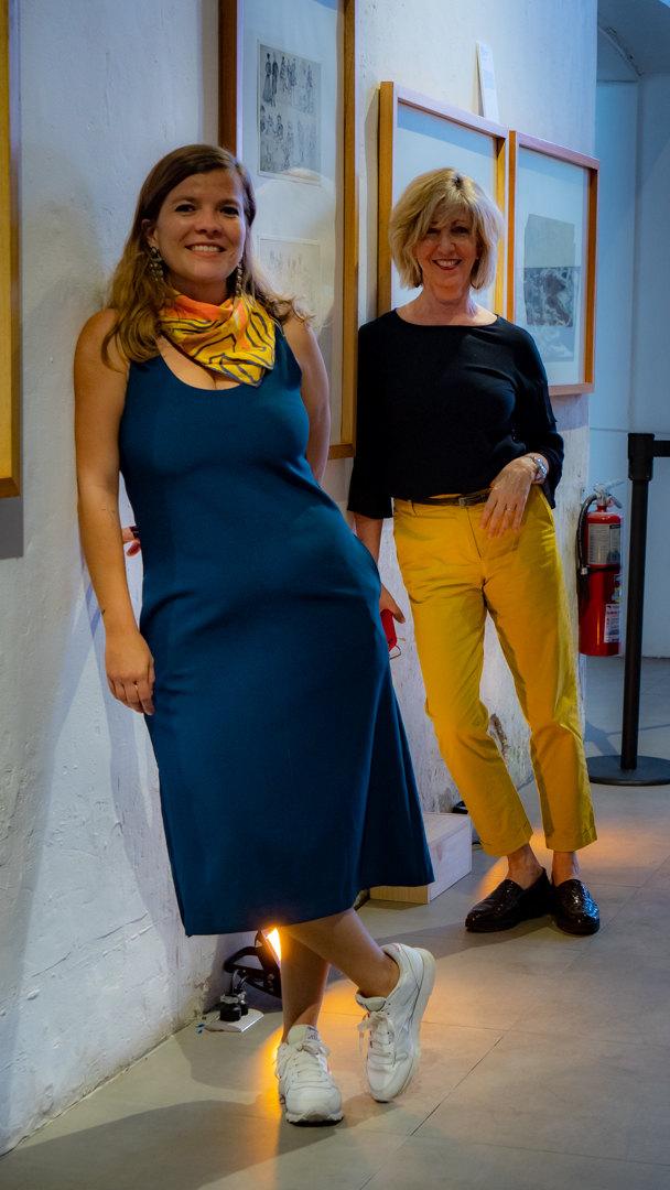 Fotografía de las curadoras (en orden de izquierda a derecha Sofía Vindas Solano y Gabriela Sáenz Shelby). Créditos: Esteban Lobo © 2021