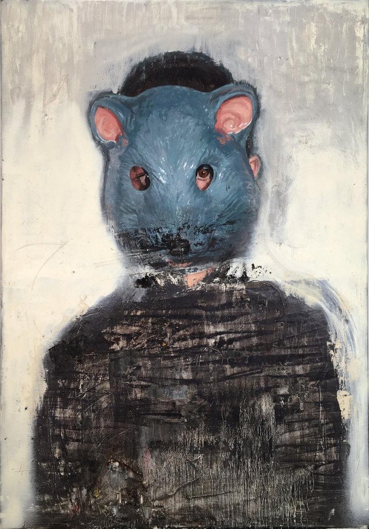 DIEGO ROMO Cabeza de ratón, 2018