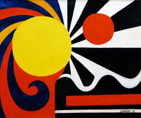 Alexander Calder, Estados Unidos «Composition», 1959 Óleo sobre tela, 65 x 81 cm Museo Ralli Santiago, Chile © 2021