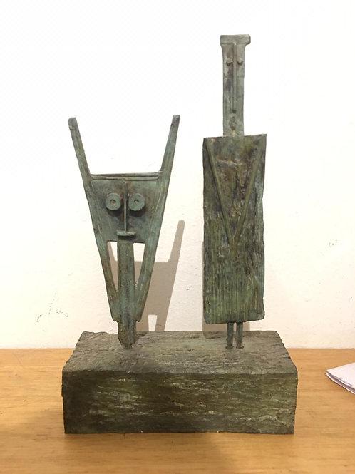 HUGO MARIN, 2017, S/t, Escultura en Bronce braceado, 26x15x6 cm.