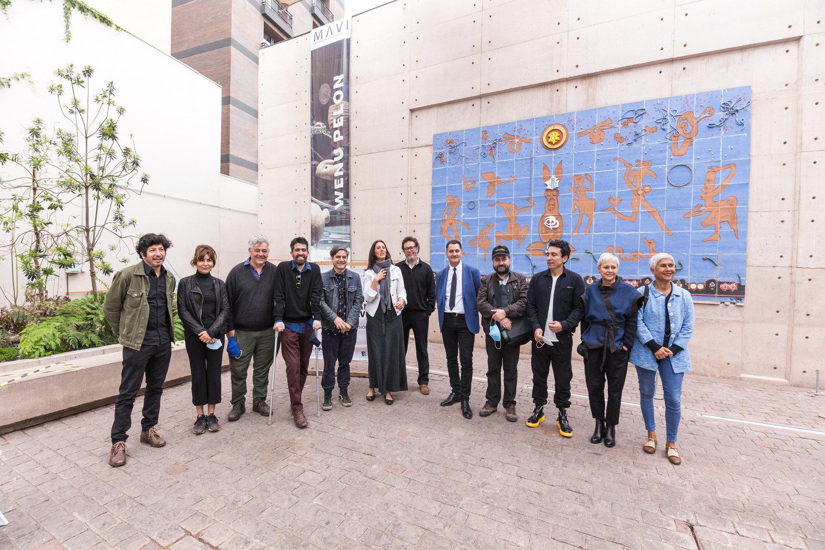 Finalistas y parte del jurado de Beca Fundación Actual MAVI 2020. Fotografía Joaquín Cabello © 2020
